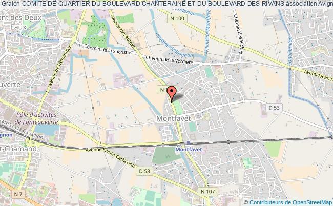 plan association Comite De Quartier Du Boulevard Chanteraine Et Du Boulevard Des Rivans