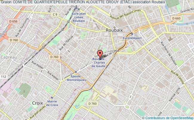 plan association Comite De Quartier Epeule Trichon Alouette Crouy (etac)