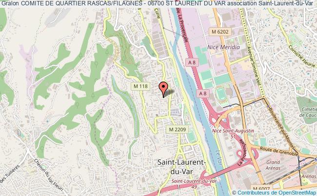 plan association Comite De Quartier Rascas/filagnes - 06700 St Laurent Du Var Saint-Laurent-du-Var