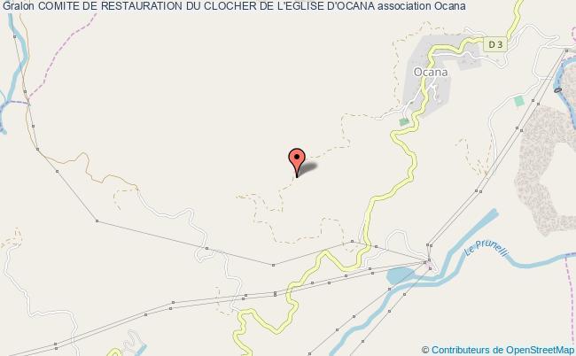 plan association Comite De Restauration Du Clocher De L'eglise D'ocana