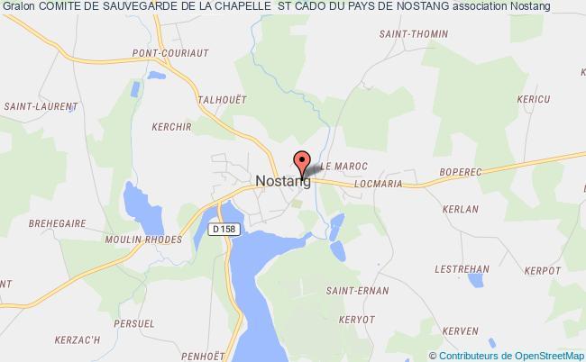 plan association Comite De Sauvegarde De La Chapelle  St Cado Du Pays De Nostang Nostang