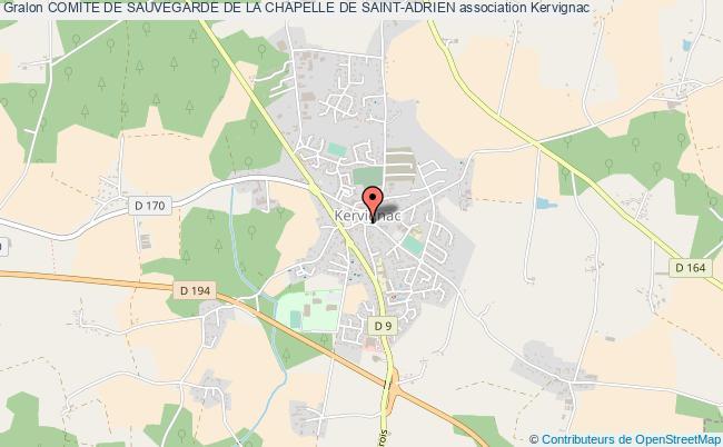 plan association Comite De Sauvegarde De La Chapelle De Saint-adrien Kervignac