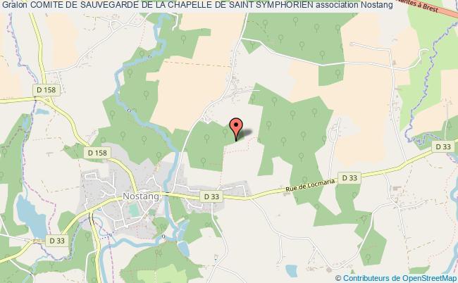 plan association Comite De Sauvegarde De La Chapelle De Saint Symphorien Nostang