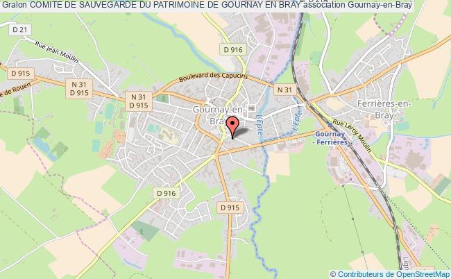 plan association Comite De Sauvegarde Du Patrimoine De Gournay En Bray