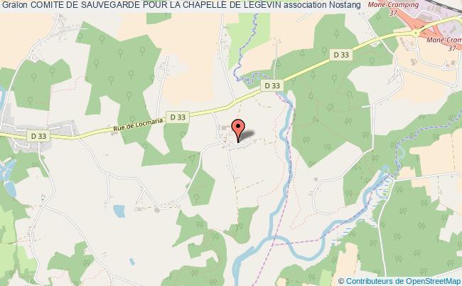 plan association Comite De Sauvegarde Pour La Chapelle De Legevin Nostang