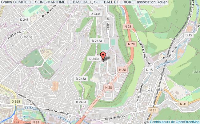 plan association ComitÉ De Seine-maritime De Baseball, Softball Et Cricket