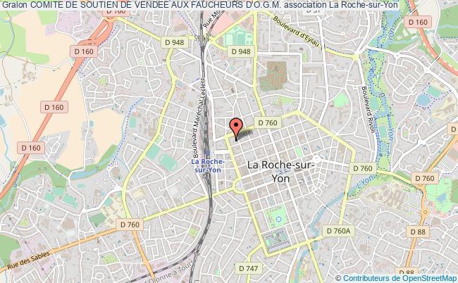 plan association Comite De Soutien De Vendee Aux Faucheurs D'o.g.m. La    Roche-sur-Yon