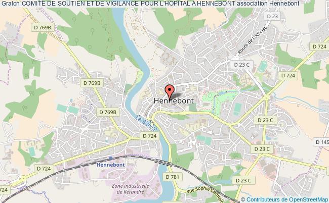 plan association Comite De Soutien Et De Vigilance Pour L'hopital A Hennebont Hennebont