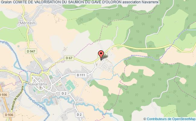 plan association Comite De Valorisation Du Saumon Du Gave D'oloron