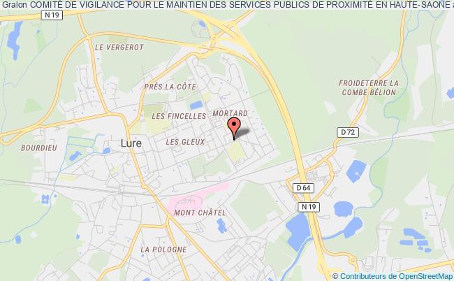 plan association ComitÉ De Vigilance Pour Le Maintien Des Services Publics De ProximitÉ Lure