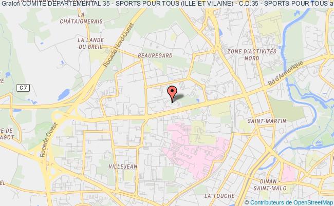 plan association Comite Departemental 35 - Sports Pour Tous (ille Et Vilaine) - C.d.35 - Sports Pour Tous