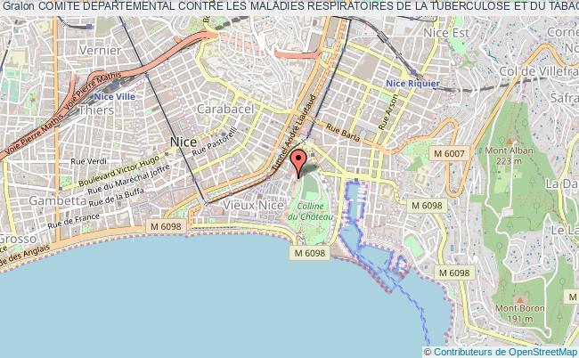 plan association Comite Departemental Contre Les Maladies Respiratoires De La Tuberculose Et Du Tabac 06 (cdmrtt 06) Nice
