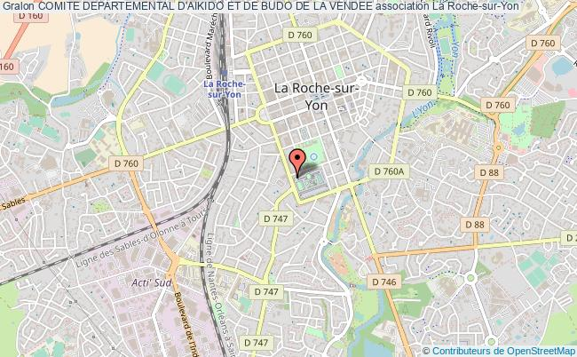 plan association Comite Departemental D'aikido Et De Budo De La Vendee La    Roche-sur-Yon