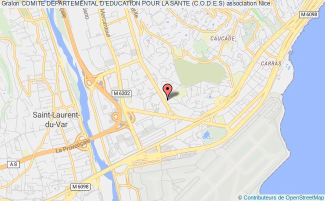 plan association Comite Departemental D'education Pour La Sante (c.o.d.e.s) Nice
