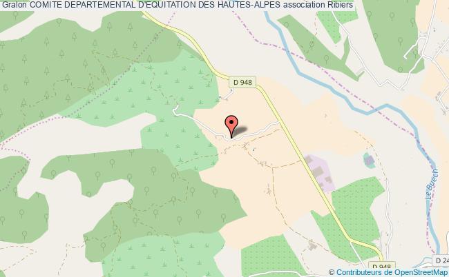 plan association Comite Departemental D'equitation Des Hautes-alpes