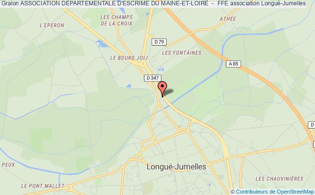plan association Comite Departemental D'escrime De Maine Et Loire Longué-Jumelles