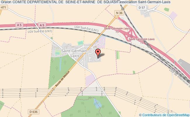 plan association Comite Departemental De  Seine-et-marne  De Squash Saint-Germain-Laxis