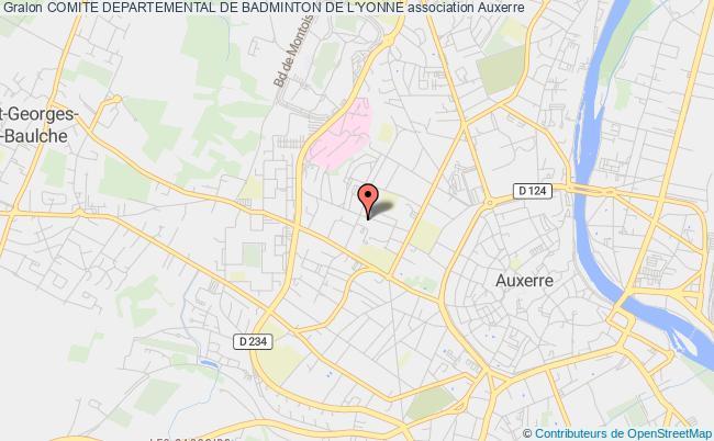 plan association Comite Departemental De Badminton De L'yonne