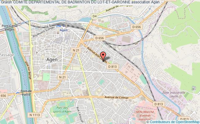 plan association Comite Departemental De Badminton Du Lot-et-garonne