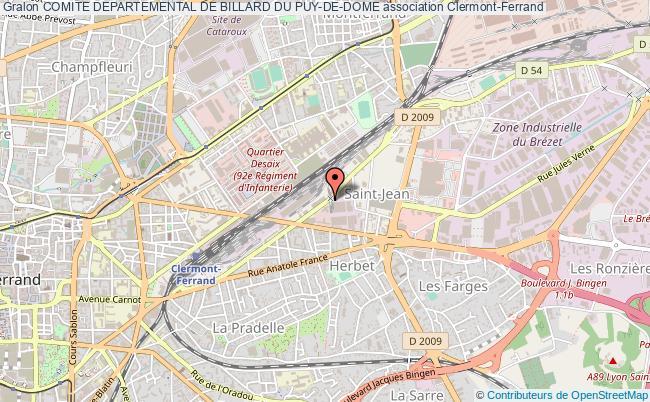 plan association Comite Departemental De Billard Du Puy-de-dome