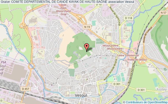 plan association ComitÉ DÉpartemental De CanoË Kayak De Haute-saÔne Vesoul