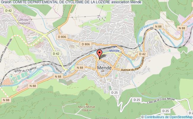 plan association Comite Departemental De Cyclisme De La Lozere