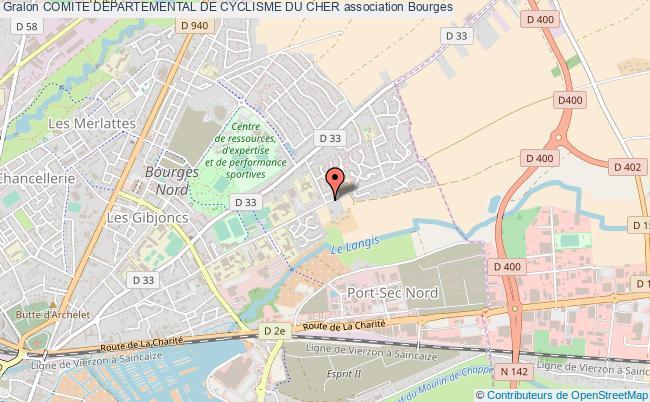 plan association Comite Departemental De Cyclisme Du Cher Bourges