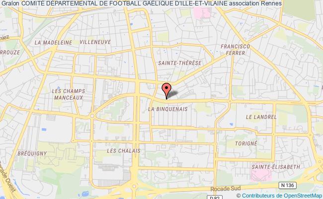 plan association ComitÉ DÉpartemental De Football GaÉlique D'ille-et-vilaine