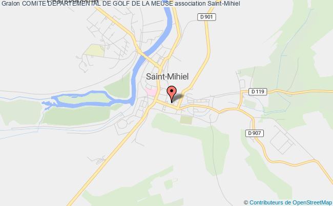 plan association Comite Departemental De Golf De La Meuse
