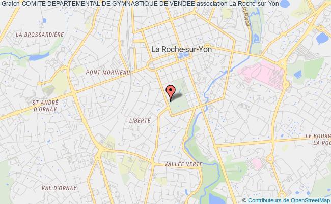plan association Comite Departemental De Gymnastique De Vendee La    Roche-sur-Yon