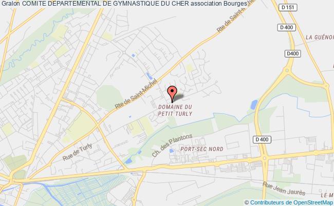plan association Comite Departemental De Gymnastique Du Cher Bourges
