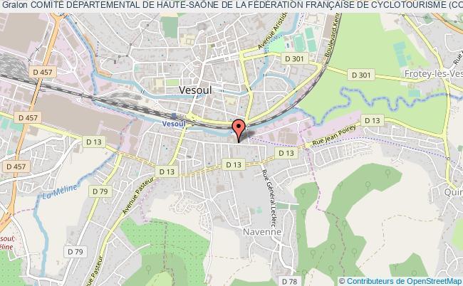 plan association ComitÉ DÉpartemental De Haute-saÔne De La FÉdÉration FranÇaise De Cyclotourisme (codep 70) Vesoul