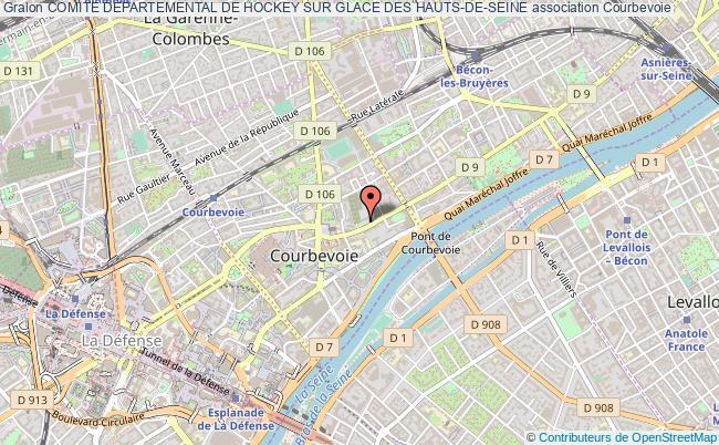 plan association Comite Departemental De Hockey Sur Glace Des Hauts-de-seine