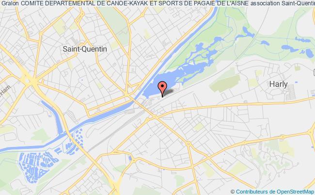 plan association Comite Departemental De L'aisne De Canoe Kayak