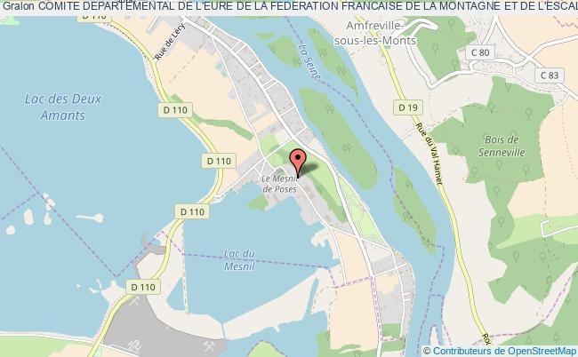 plan association Comite Departemental De L'eure De La Federation Francaise De La Montagne Et De L'escalade (f.f.m.e.) Poses