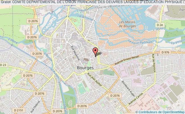 plan association Comite Departemental De L'union Francaise Des Oeuvres Laiques D' Education Physique (u.f.o.l.e.p.) Bourges