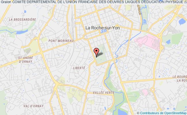 plan association Comite Departemental De L'union Francaise Des Oeuvres Laiques D'education Physique (ufolep) Roche-sur-Yon