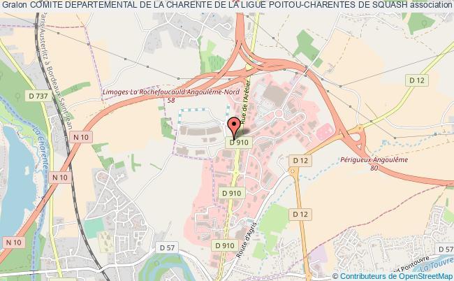 plan association Comite Departemental De La Charente De La Ligue Poitou-charentes De Squash