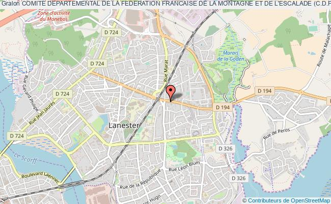 plan association Comite Departemental De La Federation Francaise De La Montagne Et De L'escalade (c.d.f.f.m.e.56)