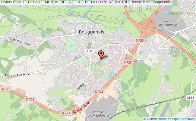 plan association Comite Departemental De La F.f.s.t. De La Loire-atlantique