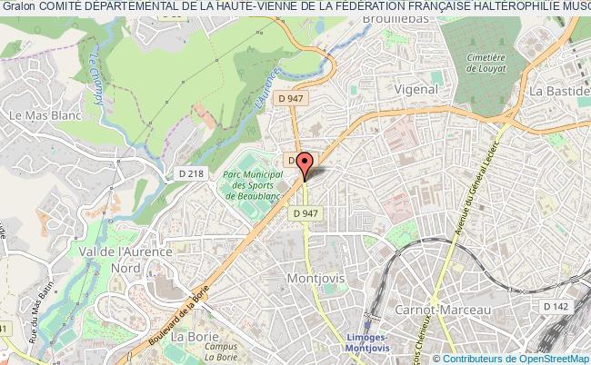 plan association ComitÉ DÉpartemental De La Haute-vienne De La FÉdÉration FranÇaise HaltÉrophilie Musculation Et Disciplines AssociÉes