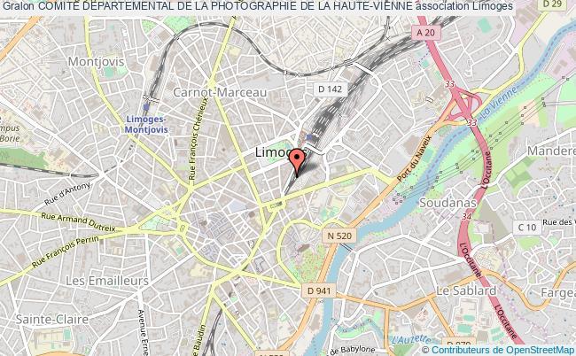 plan association Comite Departemental De La Photographie De La Haute-vienne