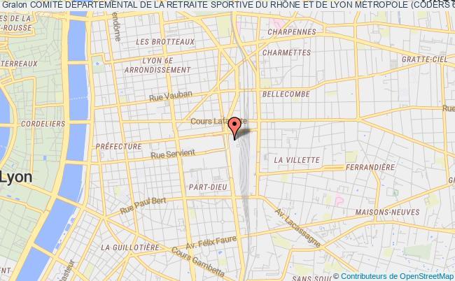 plan association ComitÉ DÉpartemental De La Retraite Sportive Du RhÔne Et De Lyon MÉtropole (coders 69) Lyon
