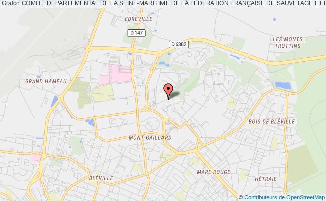 plan association ComitÉ DÉpartemental De La Seine-maritime De La FÉdÉration FranÇaise De Sauvetage Et De Secourisme Saint-Aubin-lès-Elbeuf