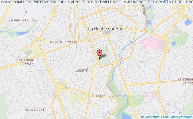 plan association Comite Departemental De La Vendee Des Medailles De La Jeunesse, Des Sports Et De L'engagement Associatif La    Roche-sur-Yon