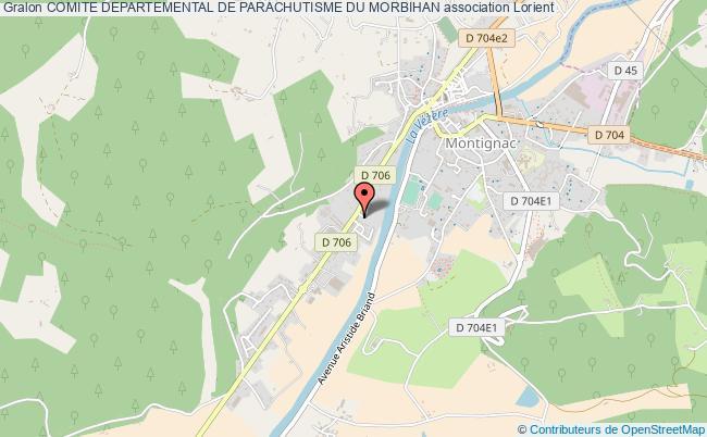 plan association Comite Departemental De Parachutisme Du Morbihan Lorient