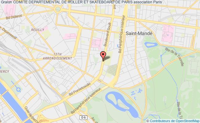 plan association Comite Departemental De Roller Et Skateboard De Paris
