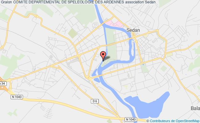 plan association Comite Departemental De Speleologie Des Ardennes