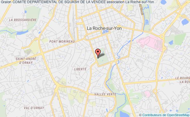 plan association Comite Departemental De Squash De La Vendee La    Roche-sur-Yon