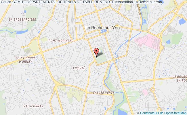 plan association Comite Departemental De Tennis De Table De Vendee La    Roche-sur-Yon